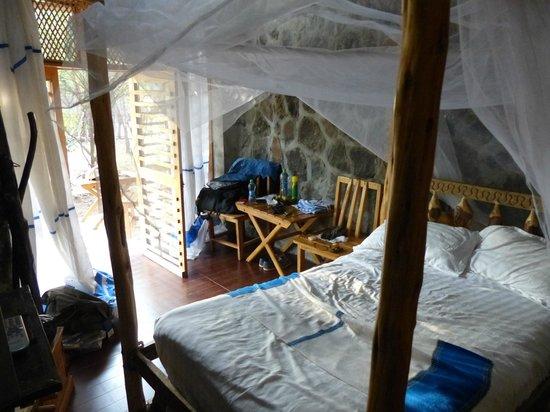 Paradise Lodge Arbaminch: interior, small/half hut,  Paradise Lodge, Arba Minch, Ethiopia