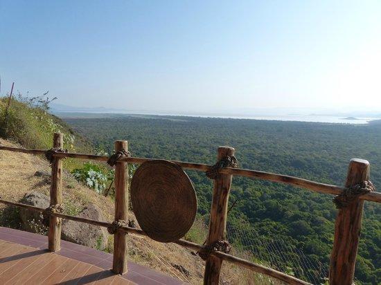 Paradise Lodge Arbaminch: view from reception,  Paradise Lodge, Arba Minch, Ethiopia