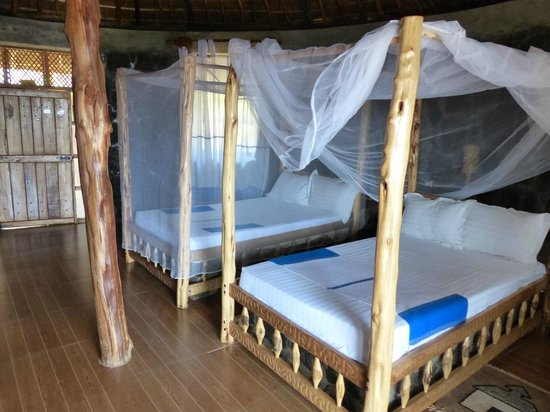 Paradise Lodge Arbaminch: View hut, interior,  Paradise Lodge, Arba Minch, Ethiopia