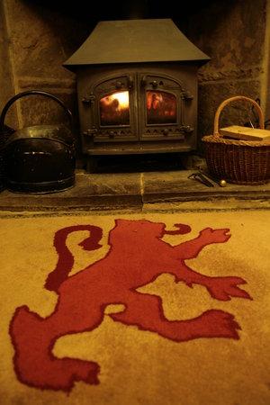 Red Lion Hotel: Roaring log fire