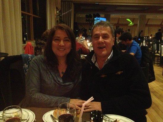 Gran Hotel Termas de Chillán: rica cena de despedida