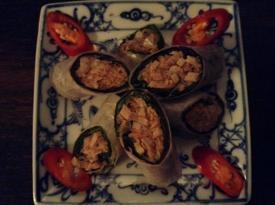 May Restaurant: Pork spring rolls