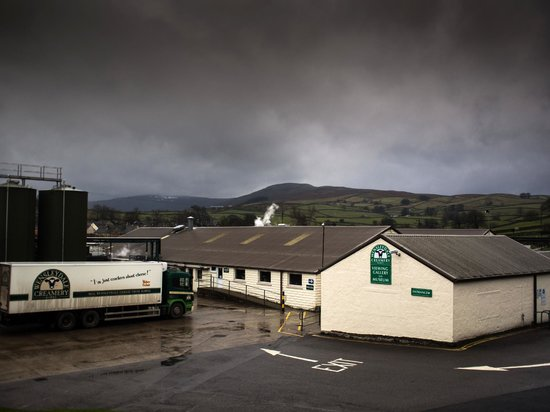 Wensleydale Creamery : located in a brooding landscape