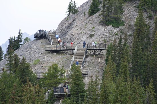 Banff Gondola : the self guided walkway at the top