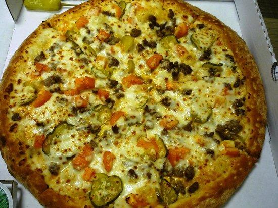 Papa John's Double Cheeseburger Pizza