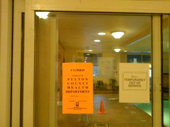 Embassy Suites by Hilton Atlanta - Airport: Embassy Suite Pool Closed by Health Dept