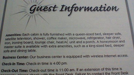 Desert Rose Inn & Cabins: Room amenaties