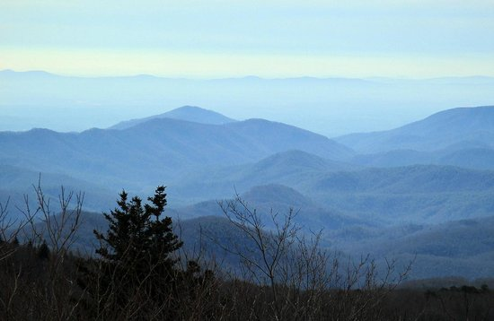 One of several amazing views from Grandfather Mountain