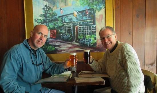 Six Pence Pub Blowing Rock : the author (right) & his brother Phil at the Six Pence