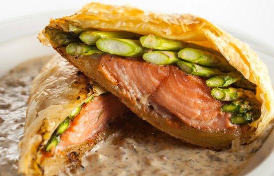 Salmon En Croûte At Bordeaux Restaurant