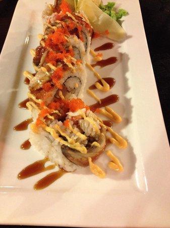 Mobo Sushi: Godzilla roll. Delicious!