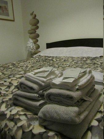 B&B Villa Adriana: kit di cortesia e asciugamani
