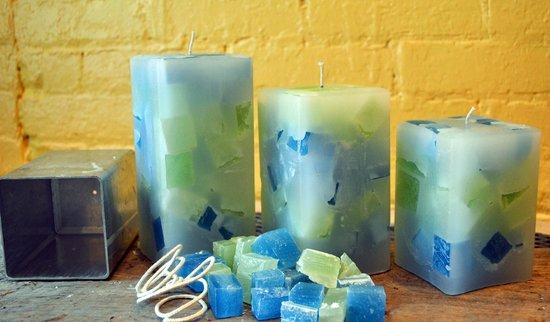 The Candle Collective: And the final product of your efforts, beautiful candles!