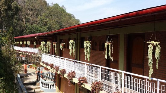 Dhulikhel Lodge Resort: The view of our room from hotel lobby
