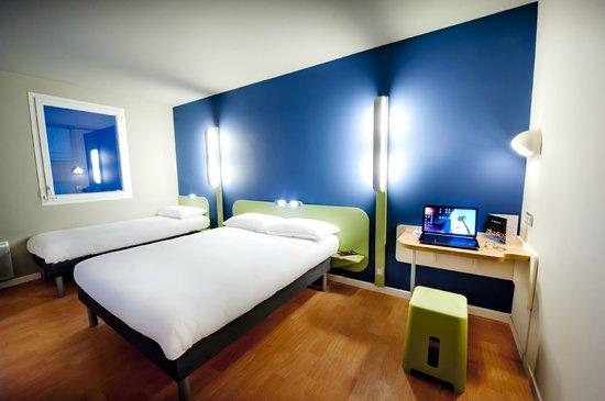 Hotel ibis Budget Brest Centre Port : Chambre 3 personnes