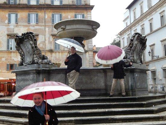 Santa Maria in Trastevere: Fountain in the square