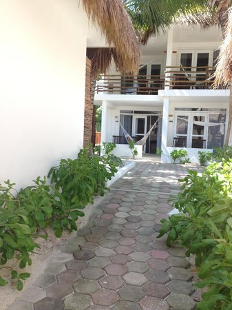 Cabanas Tulum : Our room from the beach