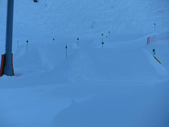 Inferno Morzine : loking to the snowpark from the room