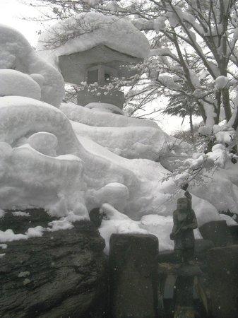 Takaragawa Onsen : Мака конъёку ротембуро зимой