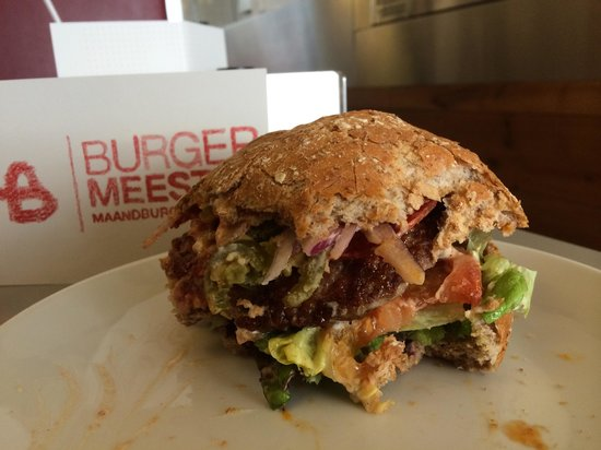 Burgermeester : My Spanish lamb burger was delicious