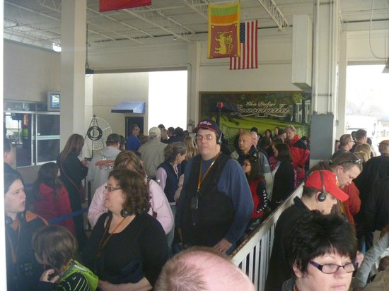 Graceland: The line waiting to board the bus