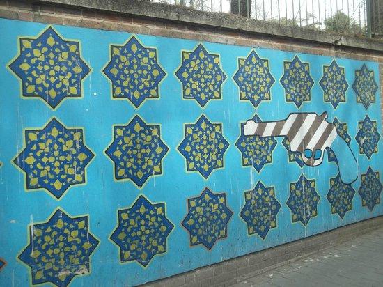 US Den of Espionage: Murals on the walls of US den