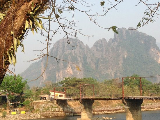 Villa Vang Vieng Riverside : View from the restaurant