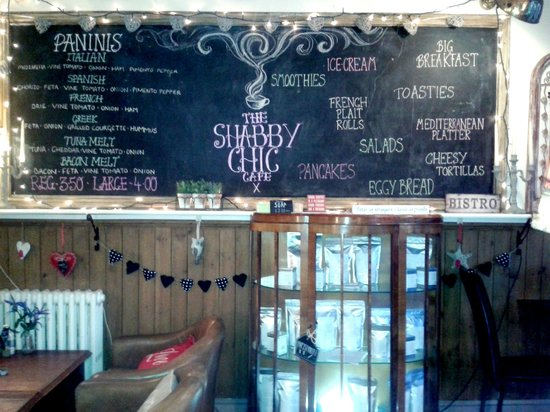 Shabby Chic Cafe: Delicious and decorative menu