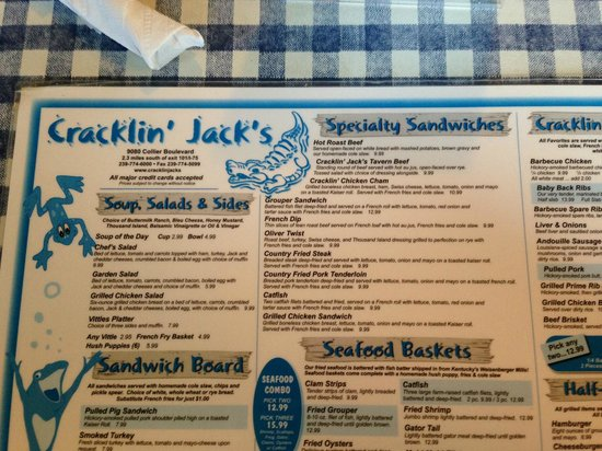 Hilton Marco Island Beach Resort: Cracklin Jack's on the way to 75/Airport