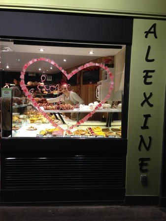 Façade Boulangerie Alexine - Saint Valentin 2014