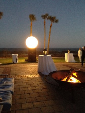 The Cloister at Sea Island: Sunset cocktails at Ocean Villa