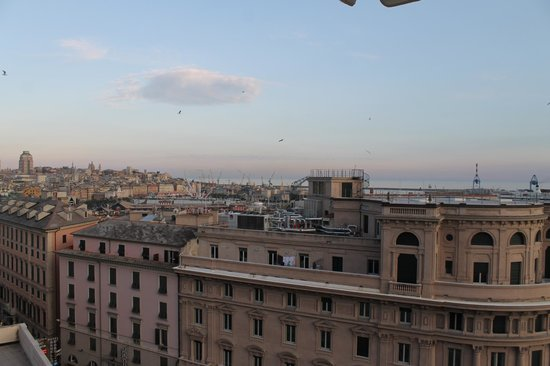 Grand Hotel Savoia: View from the roof(SPA zone)