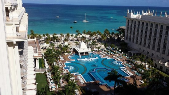 Hotel Riu Palace Aruba : View from Suite 919. Main building