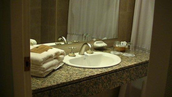 Kalenshen Hotel - Cerro Calafate: Lavatorio y espejo