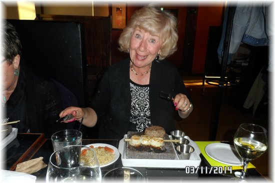 Anasazi Steakhouse & Gallery : Carole's 64   Birthday Diner Surf & Turf !