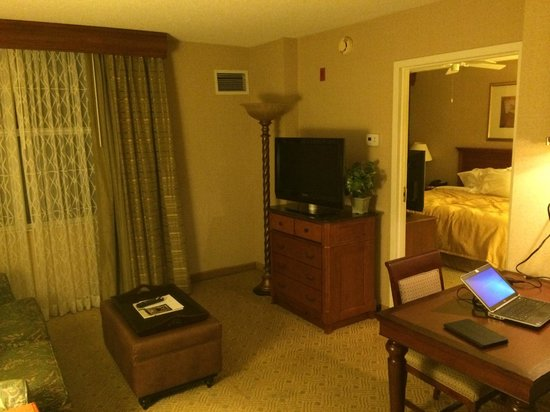 Homewood Suites Dulles International Airport: Living area