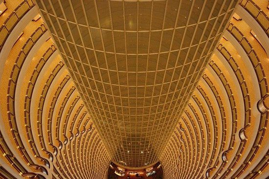 Grand Hyatt Shanghai: View from the top, down to the Atrium Cafe.