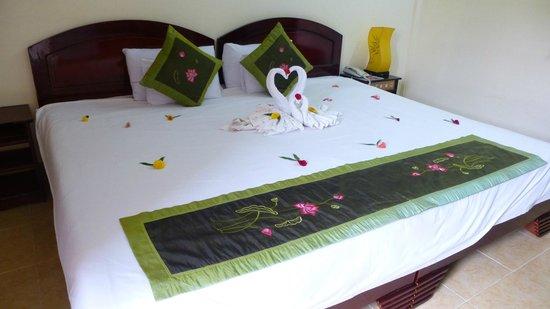 Hai Au Boutique hotel and spa: superbe déco du lit