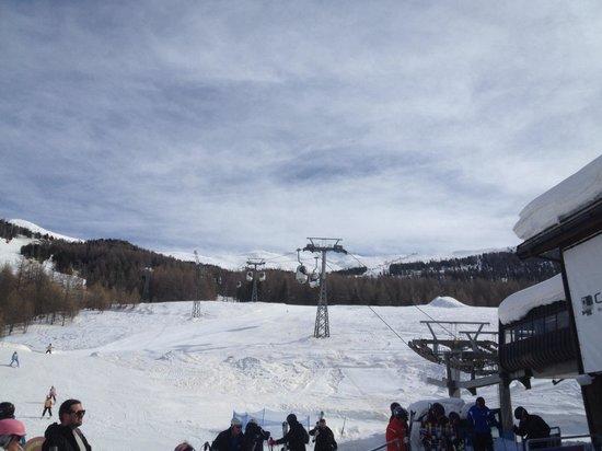 Mottolino Fun Mountain: Alla partenza della -Gondola- ;-)