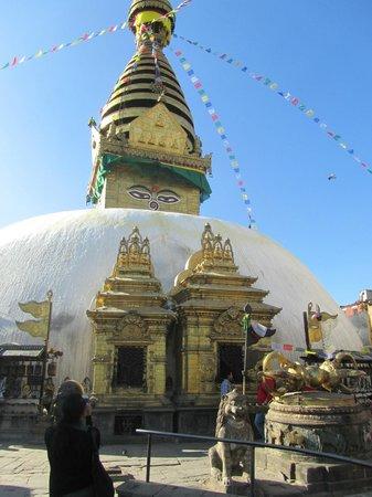 Swayambhunath-Tempelkomplex: The stupa