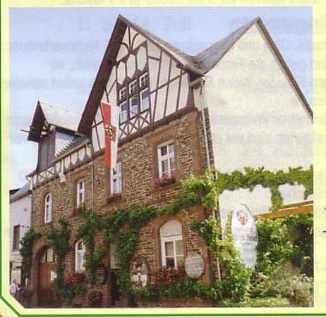 Zeltingen-Rachtig, Allemagne : Hier wohnt die Winzerfamilie