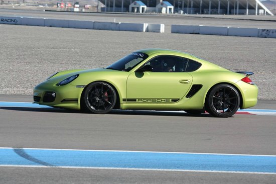 Exotics Racing: On track in the Cayman R.. best lap was 59.x seconds