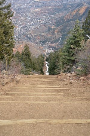 Manitou Springs Incline : View from the top of the Manitou Incline
