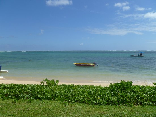 Tamassa Resort: Our view point from our sun bed