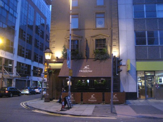 The Garrick Bar: From across the road