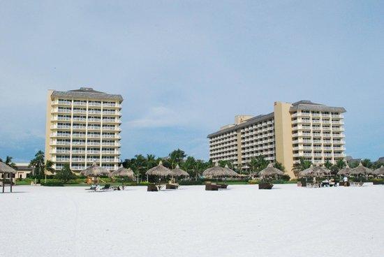 JW Marriott Marco Island Beach Resort : Hotel from beach.