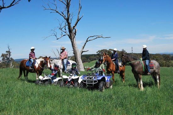 Oberon, Australia: horses for the girls, bikes for the boys!