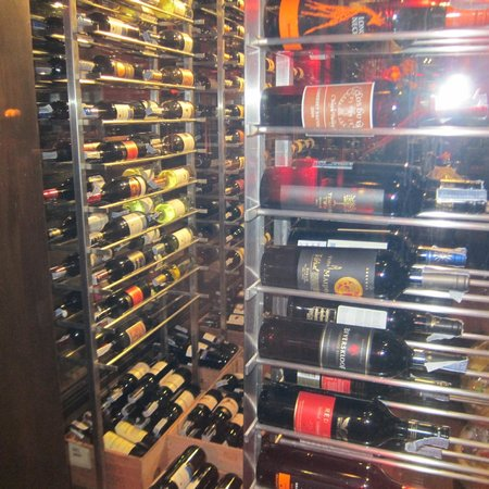 Mantra Restaurant & Bar: Wine fridge at Mantra