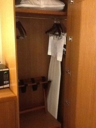 Hyatt Place Charlottesville : only closet is more like a small wardrobe.