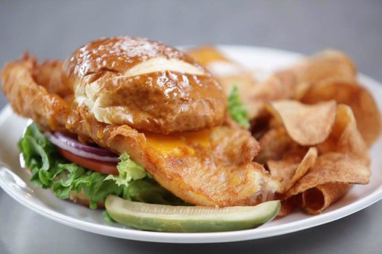 Grand River Brewery: Fish Sandwich